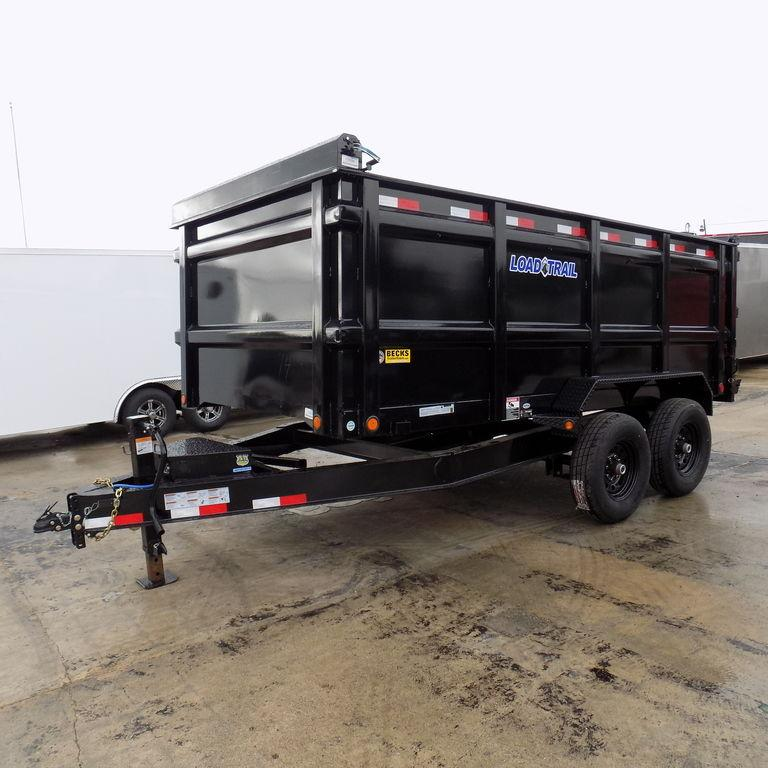 "New Load Trail 83"" x 14' Dump Trailer w/ 48"" Sides"