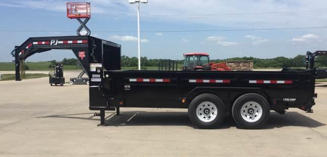2019 PJ Trailers 14' LoPro G-Neck Dump Trailer
