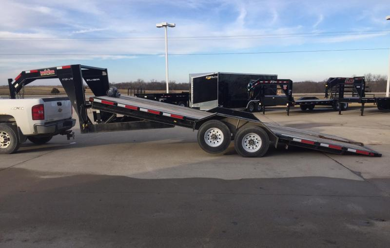 2017 Finish Line 22 Power Tilt Equipment Trailer