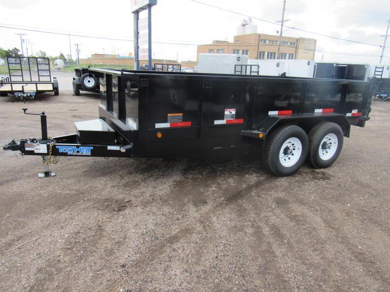 2019 Top Hat Trailers 7 X 16 Dump Trailer 14K