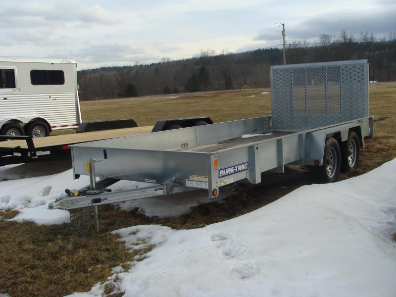 2015 Sure-Trac SURE TRAC 7X16 GALVANIZED HIGH SIDE Utility Trailer