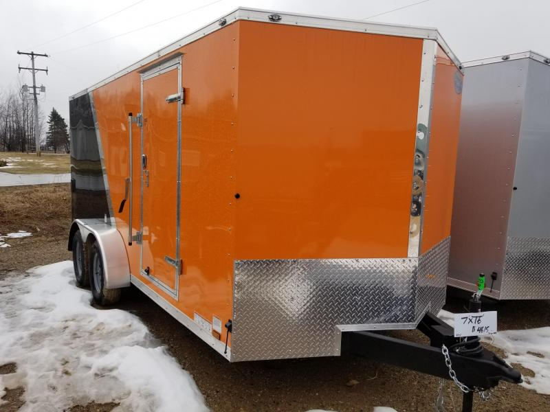 2018 Continental Cargo 7x16 Enclosed Cargo Trailer