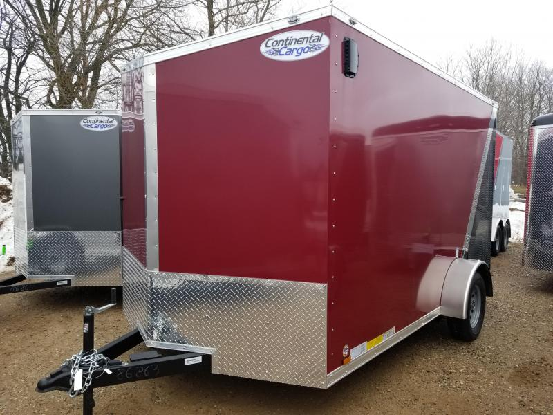 2018 Continental Cargo 7x12 Enclosed Cargo Trailer