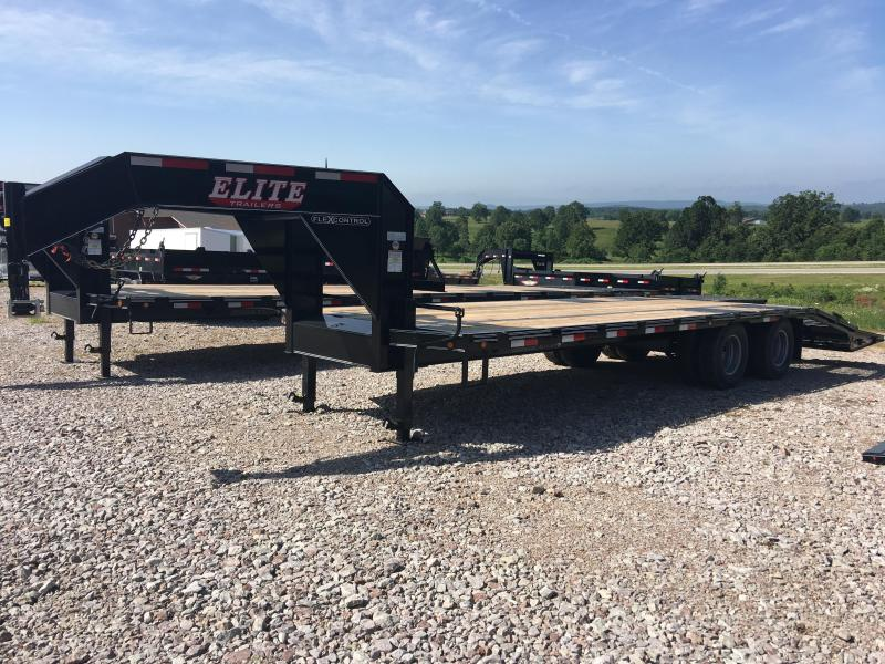 2019 Elite Trailers 8.5x25 22.5K with Mammoth Ramps Flatbed Trailer