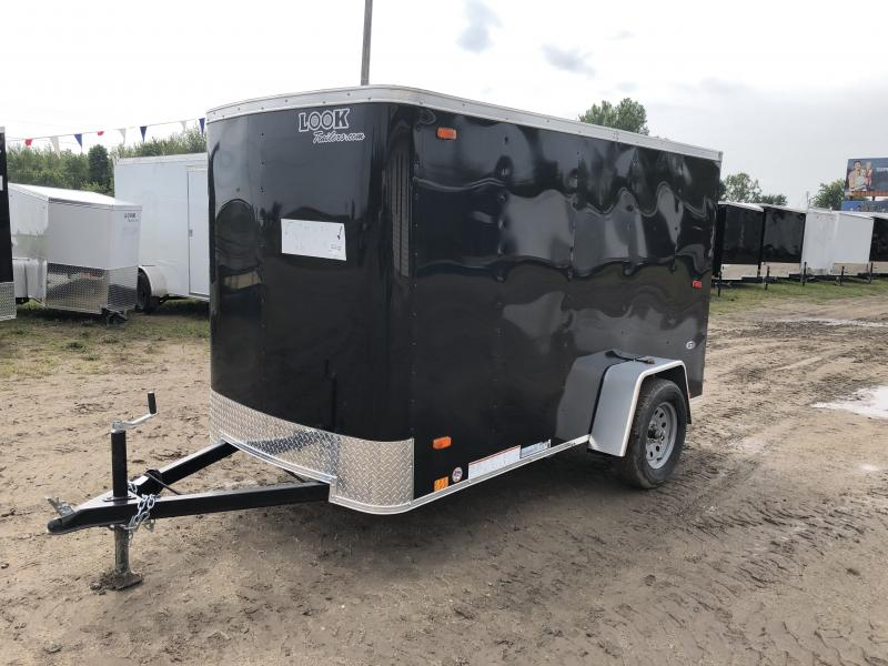 Look Trailers 5x10 Ramp Door Enclosed  Trailer Black