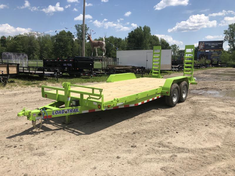 Load Trail 20ft 14K Equipment Trailer W/Rub Rail Saftey Green
