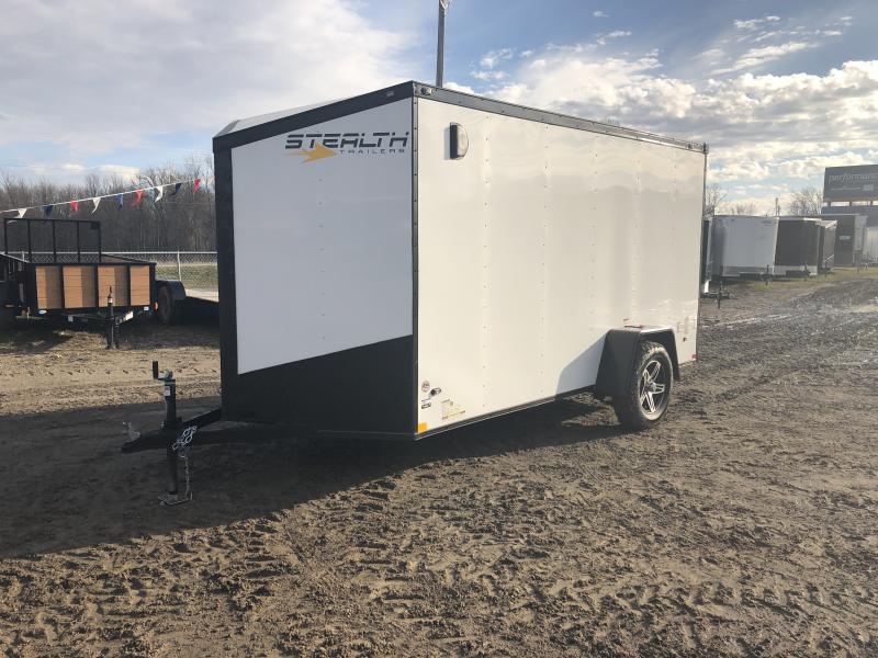 Stealth Trailers 6x12 HD V-Nose Ramp Door Blackout Pkg Enclosed Cargo Trailer