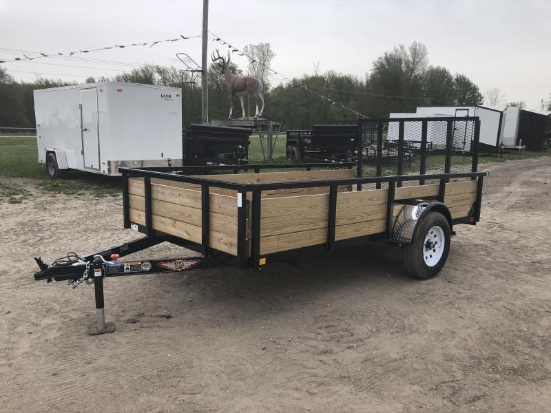 H&H 6x12 HD Woodsided Utility Trailer