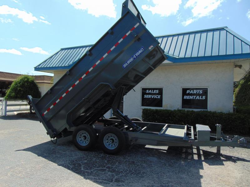New Sure-Trac 82X14 Scissor Dump14k Trailer w/ 4' Sides