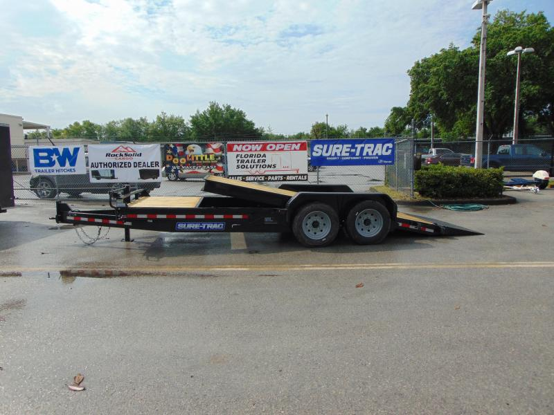2019 Sure-Trac 7X16+4 Tilt Bed 16K Equipment Trailer