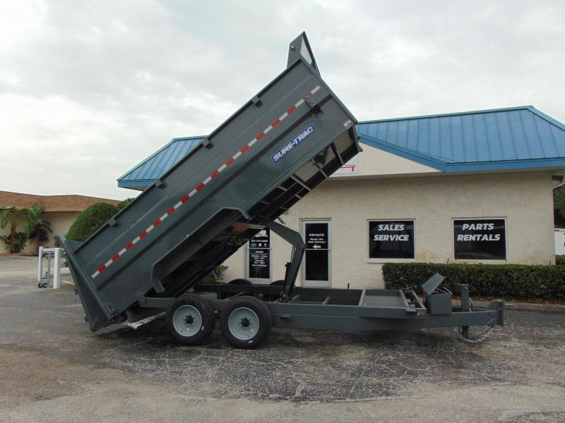 2019 Sure-Trac 82X16 16K-4ft Sides- Scissor Hoist Dump Trailer