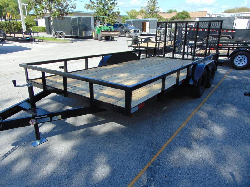 New Worldwide Trailer 7X16 Tandem Axle Utility Trailer