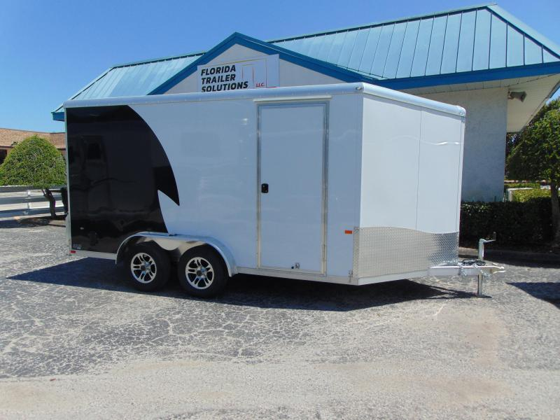 "2019 NEO Trailers 7.5X14 Aluminum Enclosed Cargo / Motorcycle Trailer 12"" Addtl Height"