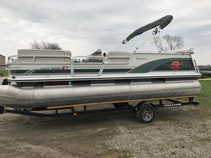 2000 Tracker Marine PB-21 Pontoon Boat