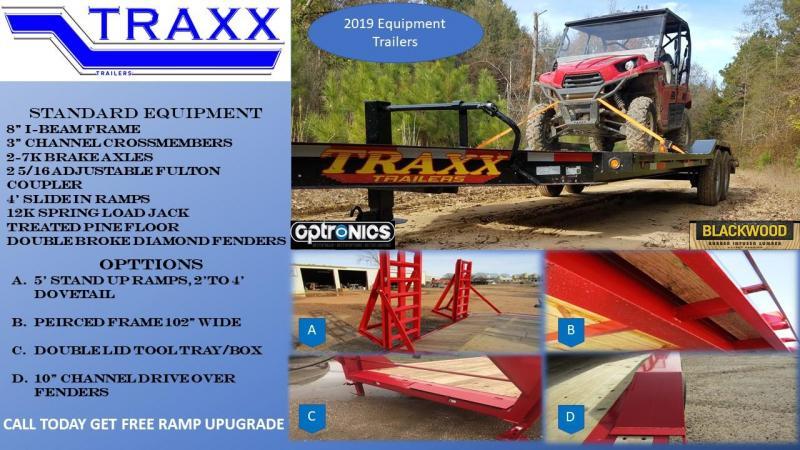 2019 Traxx Trailers Equipment Hauler Equipment Trailer