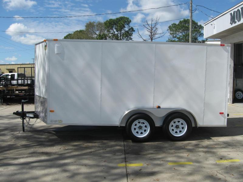 NEW 2018 7X14TA V-Nose Enclosed Trailer
