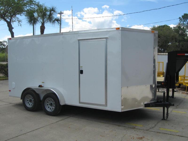 7x14 Trailer V-Nose Enclosed Cargo Trailer 6' 6