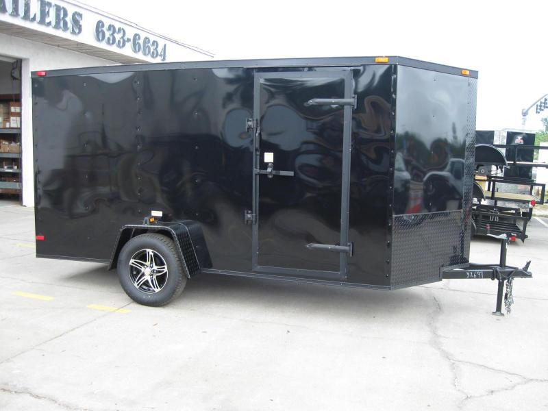 6x12 V-Front Blackout Enclosed Cargo Trailer