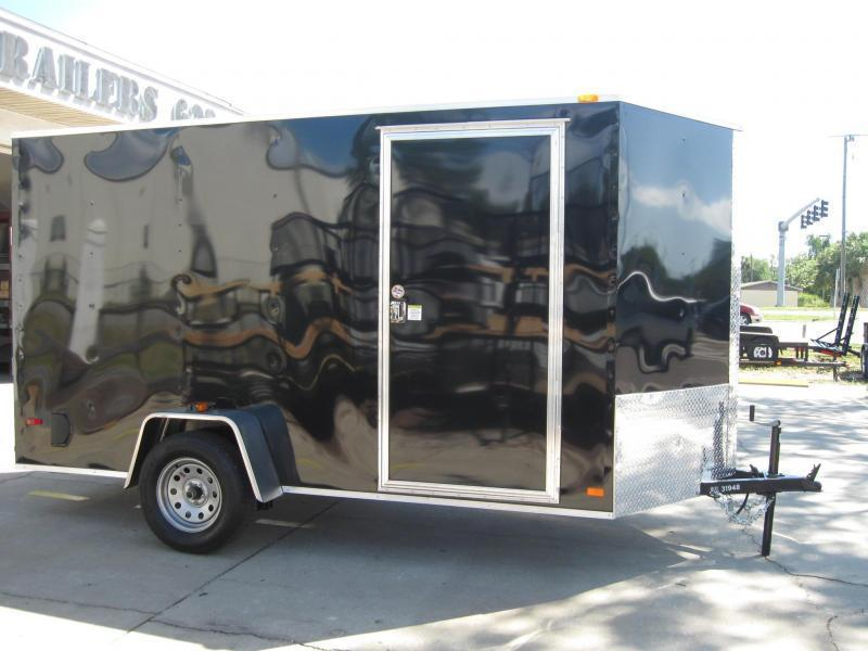 "6X12 V-Front Enclosed Cargo Trailer SS model 6' 6"" Height"
