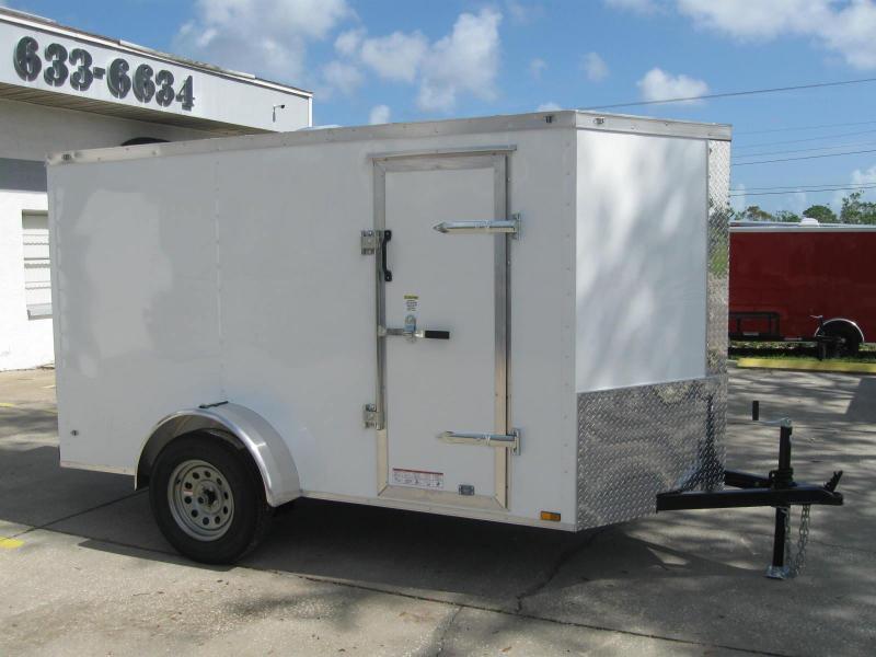 5x10 Trailer V-Nose Enclosed Cargo Trailer
