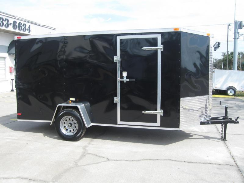 6x12 V-Nose Enclosed Cargo Trailer FACTORY OUTLET SPECIAL