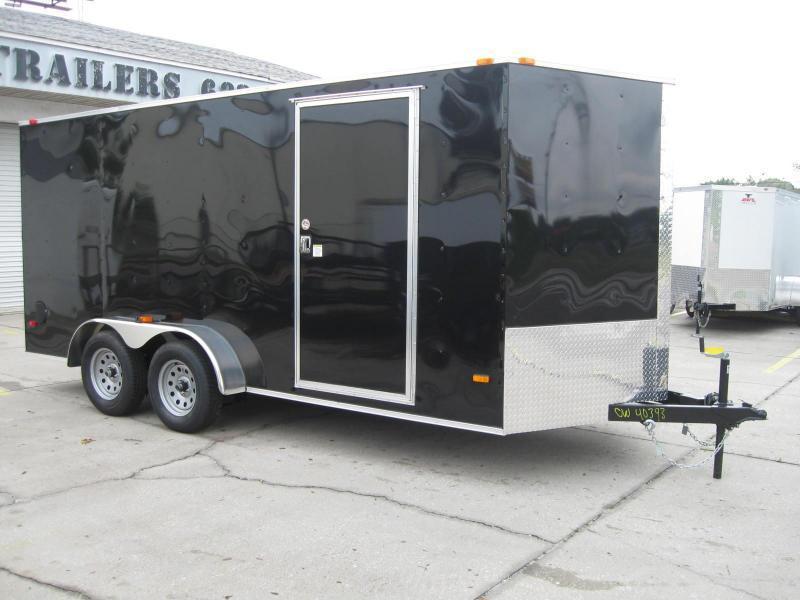 """7x16 Trailer V-Nose SS Model 6' 6"""" TALL"""