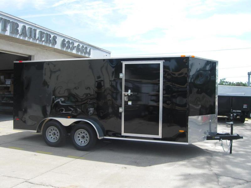 7x16 V-Front Enclosed Cargo Trailer