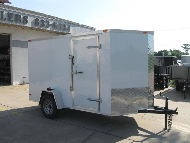 6x10 V-Nose Enclosed Cargo Trailer