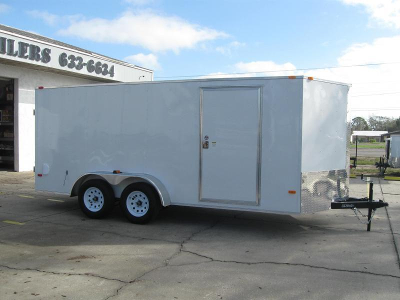 NEW 2018 7x16 V-Nose Enclosed Cargo Trailer