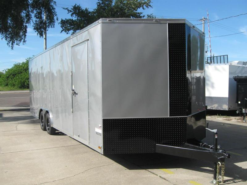 8.5x24 V-Nose 7' TALL Enclosed Cargo Trailer