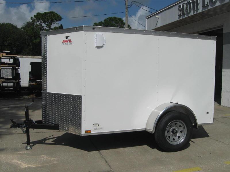 5x8 V-Nose Enclosed Cargo Trailer RAMP DOOR