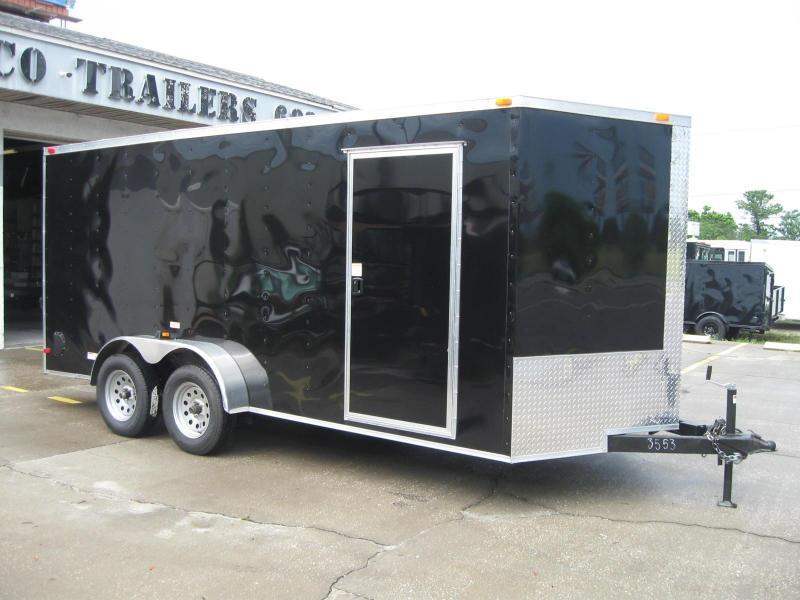 """7x16 Trailer V-Nose Enclosed Cargo Trailer 6' 6"""" TALL"""