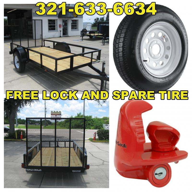 5x10 Trailer with FREE Spare Tire and Lock