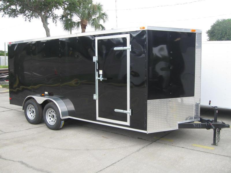 7x16 Trailer V-Nose Enclosed Cargo Trailer