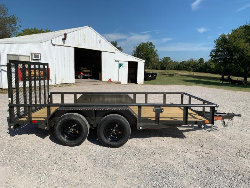 "2020 MAXXD 14' x 83"" Tandem Axle Pipe Top Utility Trailer 7K"