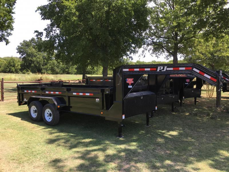 2019 PJ Gooseneck 16' x 7' XL Low Pro Dump