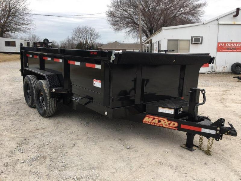 "2019 MAXXD 14' x 7' HD Dump (Larger Cylinder/12"" o/c Crossmembers)"
