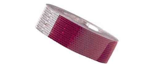 Tape Reflective Red and White per foot