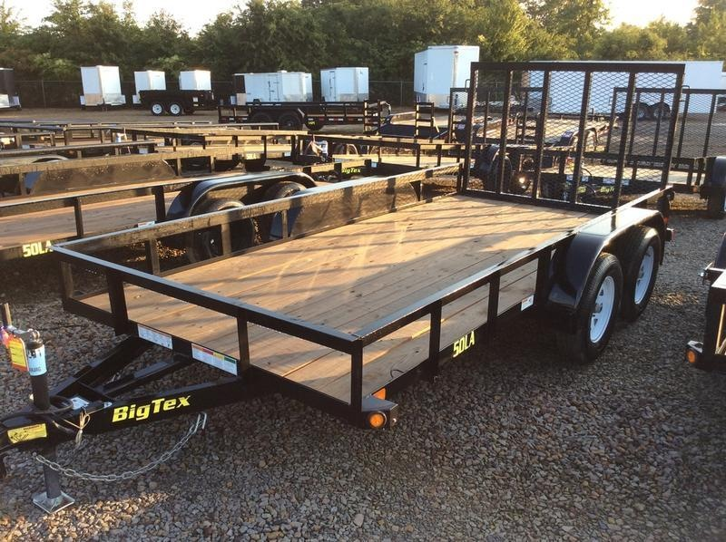 """2018 Big Tex  50LA-16BK4RG 6'5""""x16 w/ Ramp Gate"""