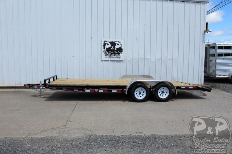 2020 PJ Trailers Wood Floor Car Hauler 20x83 20' Flatbed Trailer