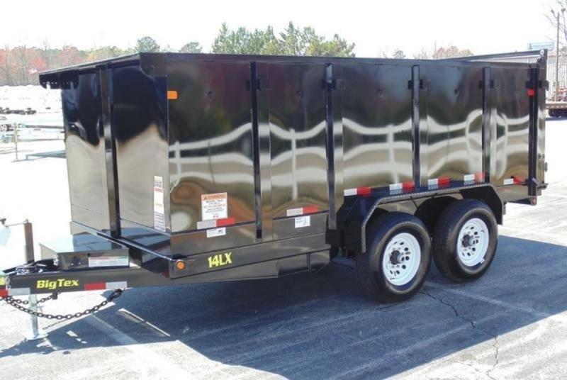 """2018 Big Tex  14LX-14BK-P4 83"""" x 14 Dump w/ 4' Sides"""