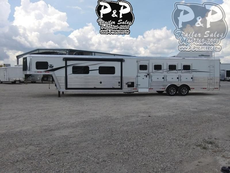 2019 Bison Trailers Laredo 8416LDSSRSL 4 Horse Trailer 16 LQ With Slides Slant