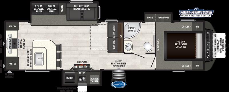 2019 Keystone Sprinter LIMITED 320MLS 36'7