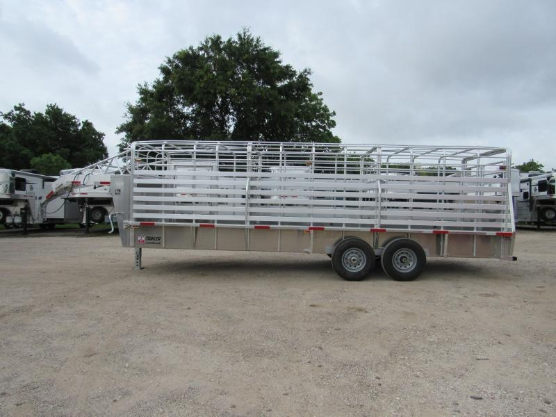 "2019 W-W Trailer 24x6.8"" Aluminum Roustabout Livestock Trailer"