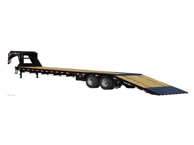 2019 PJ Trailers Low-Pro with Hydraulic Dove (LY) Flatbed Trailer