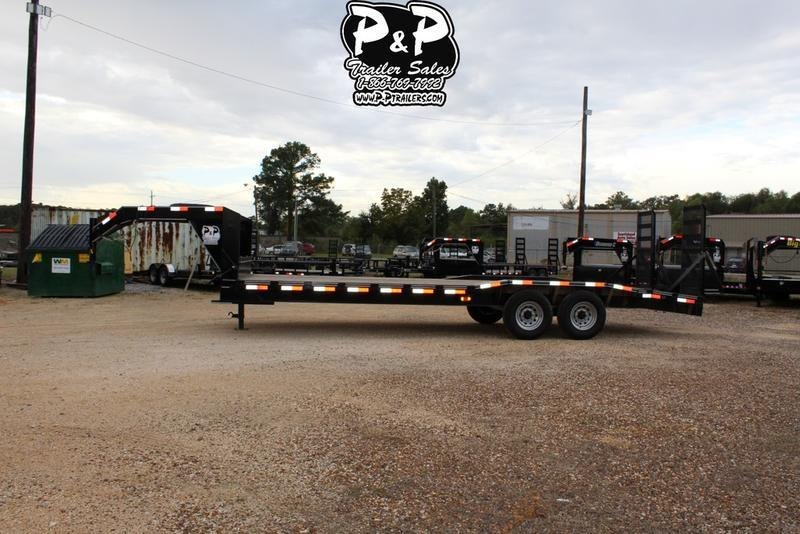 2018 P and P PPGNEQ24X102HDFURDOF 24' Flatbed Trailer
