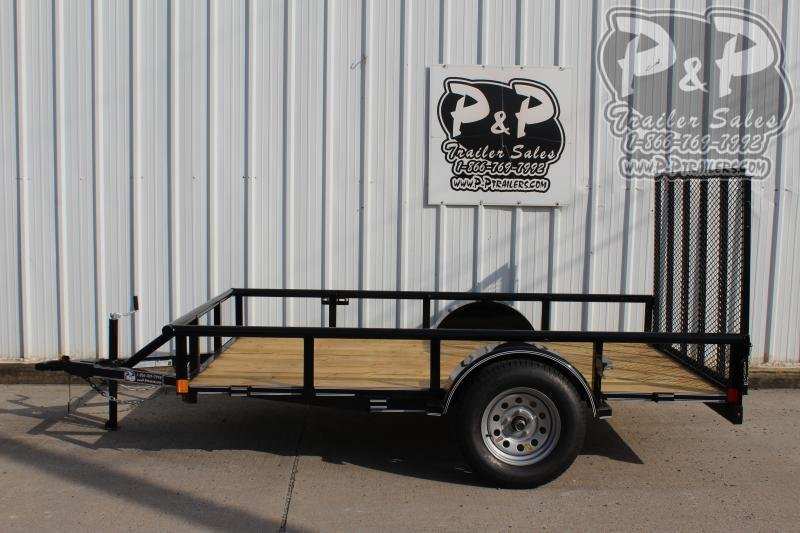 2019 P and P PPSA10X72LDRGPT 10 ft Utility Trailer