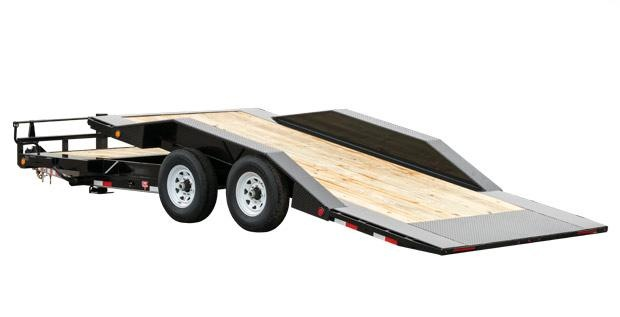 2019 PJ Trailers 6 Channel Super-Wide Tilt (TS) Equipment Trailer
