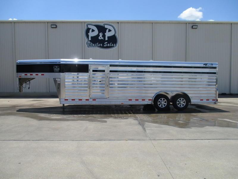 2018 4-Star Trailers Gooseneck Stock Trailers 24' x 8' X6' Club Calf