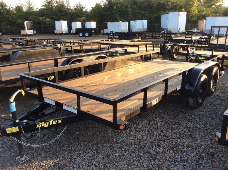"""2018 Big Tex  50LA-16BK4AR 6'5"""" x 16 w/ Ramp Gate"""